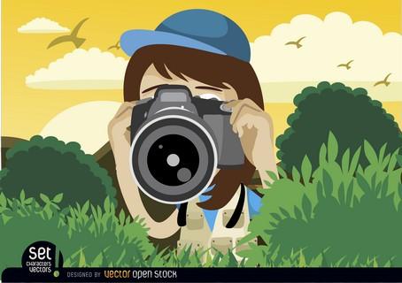 JAVNI FOTOGRAFSKI NATEČAJ »KOČEVSKO – SOŽITJE Z NARAVO«, foto URL: http://www.freepik.com/free-vector/cartoon-girl-with-camera_716322.htm#term=camera&page=11&position=6 (designed by Vector Open Stock (URL: https://www.vectoropenstock.com/)