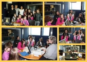 Zdravko in učenci OŠ Ob Rinži na Radiu Univox v oddaji Otroški Brlogec