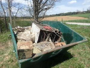 Odstranjene smeti iz Vodne jame pri Klinji vasi, foto: Tomaz Kranjc