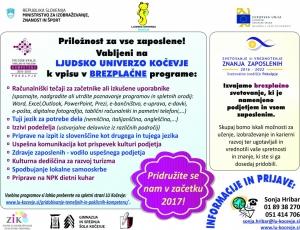 Projekt Pridobivanje kompetenc v letu 2017