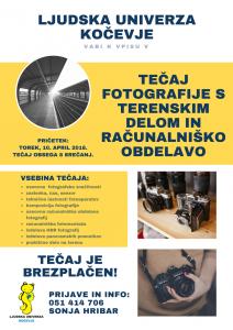 Tečaj fotografije na LU Kočevje